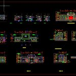 Guard House Layout Plan Elevations and Section Details CAD Template DWG
