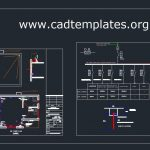 Guard Room Lighting and Power Plan CAD Template DWG