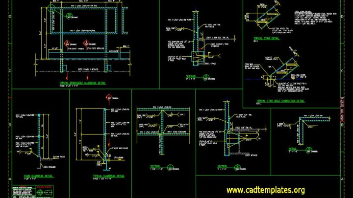 Guardrail Typical Section Details CAD Template DWG