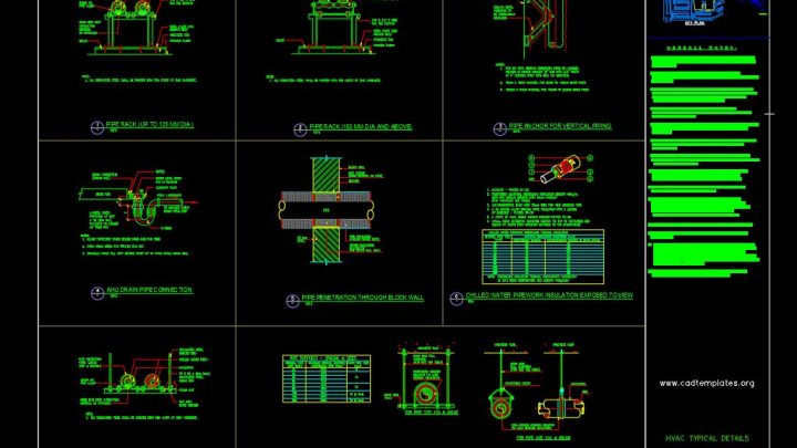 HVAC Typical Details Drawing CAD Template DWG