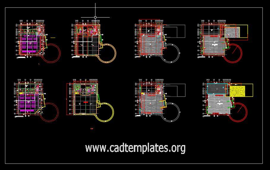 Hyper Market Layout Plans CAD Template DWG