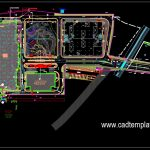 Landscape Design Roadway Project Layout Plan CAD Template DWG