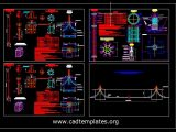 Lighting Pole Foundation and Electrical Details CAD Template DWG
