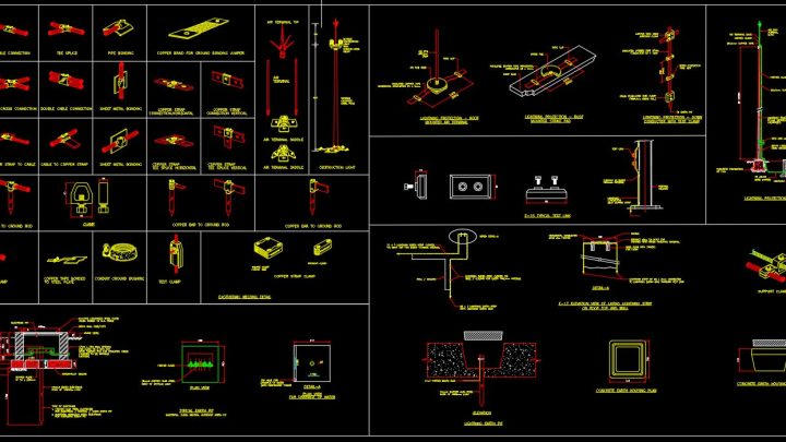 Lightning Rod Details CAD Templates DWG