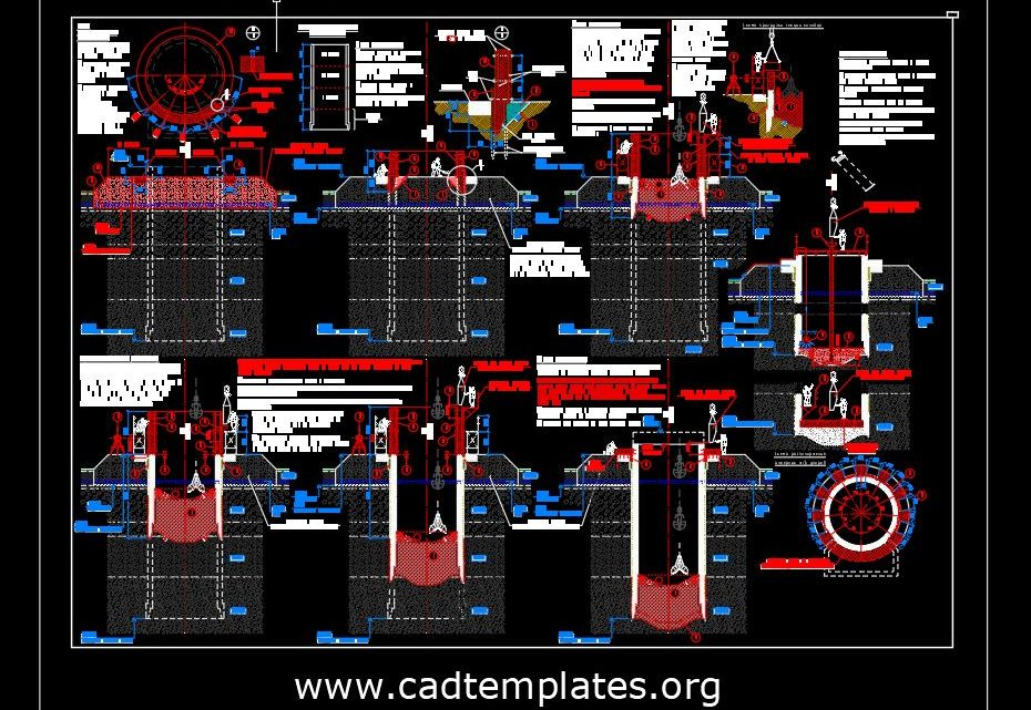 Lowering Well Structural Details Autocad Template DWG