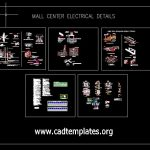 Mall Center Electrical Details CAD Template DWG