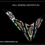 Mall General Master Plan CAD Template DWG