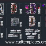Medical Center Lighting and Power Plan CAD Template DWG