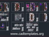 Mall Project Electrical Lighting Plans Cad templates DWG