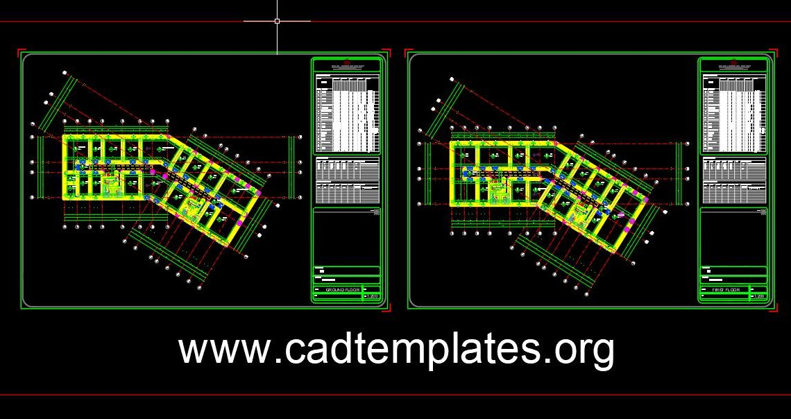 Mall Project Layout Plan details CAD Template DWG