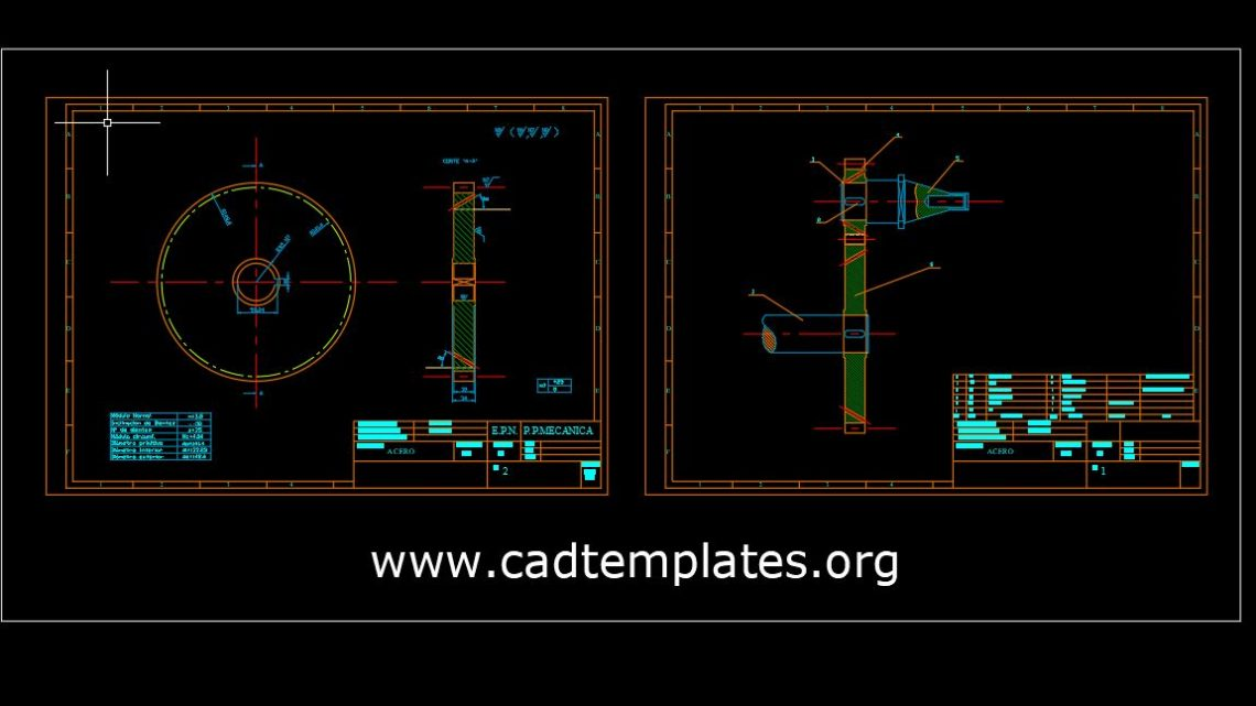 Milling Machine Spindle Assembly and Workshop Autocad Template DWG