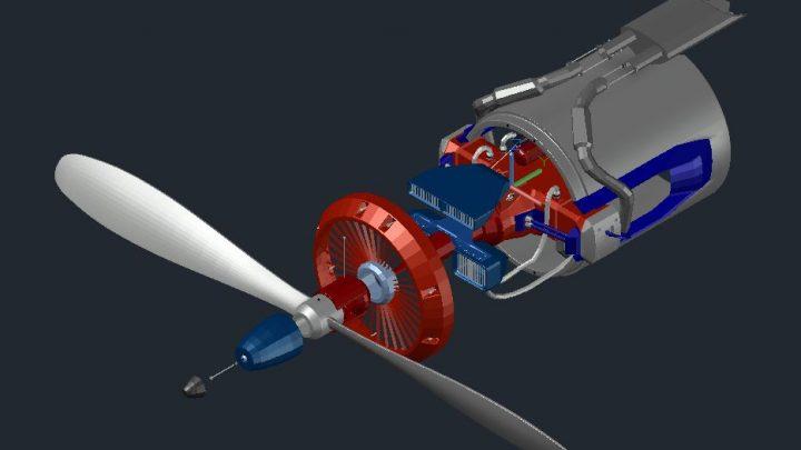 Motor 3D Sample Model CAD Template DWG