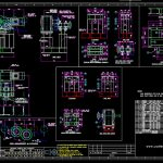Motor Frame and Sections Details CAD Template DWG