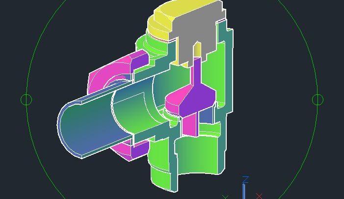 Non-Return Valve 3D Model CAD Template DWG