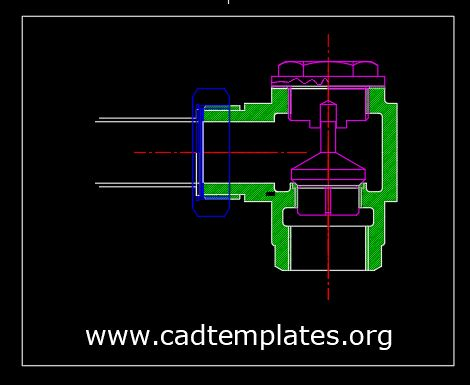 Non-Return Valve Assembly CAD Template DWG