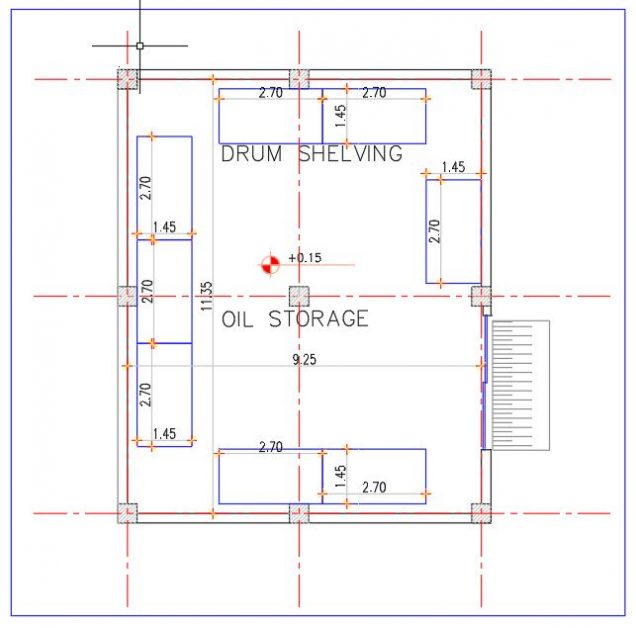 Oil and Gear Storage CAD Template DWG