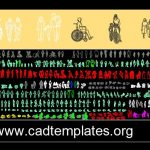 People Autocad Free Blocks CAD Template DWG
