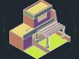 Pergola 3D Autocad Template DWG