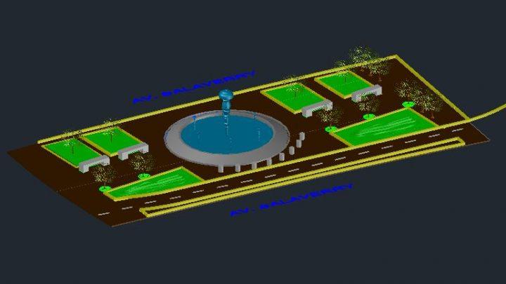 Pileta Design 3D Model Autocad Template DWG