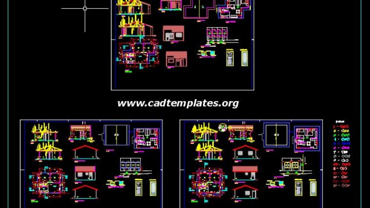 Police Station Layout Plan and Elevations Details CAD Template DWG