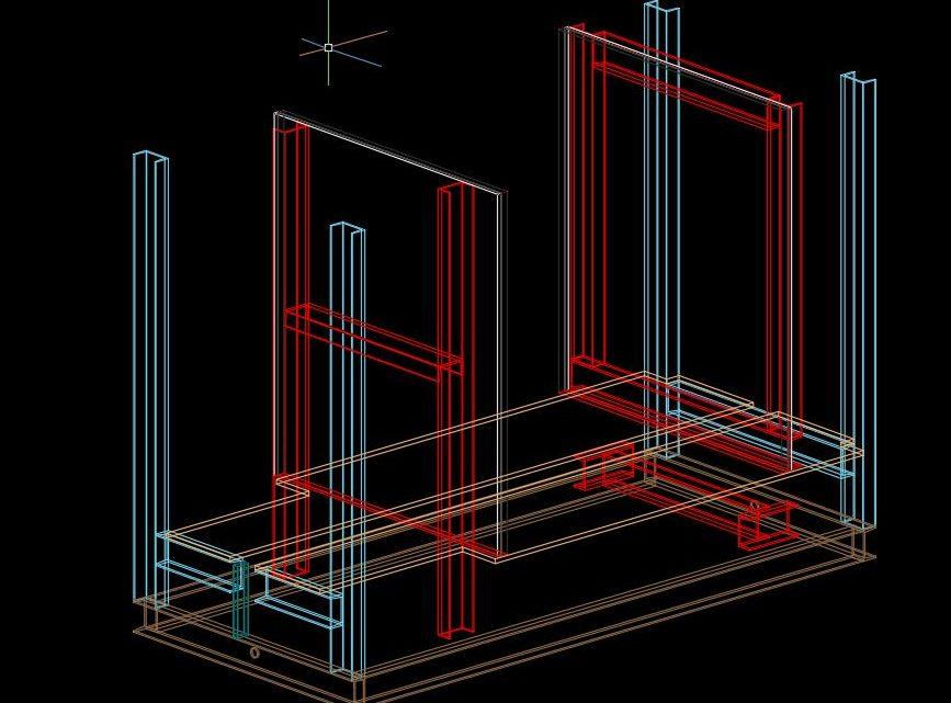 Press Machine 3D Model Drawing CAD Template DWG