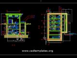 Pumping Station Plan and Elevation Autocad Template DWG