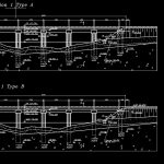Railway Bridge Design with Elevation and Section Details CAD Template DWG