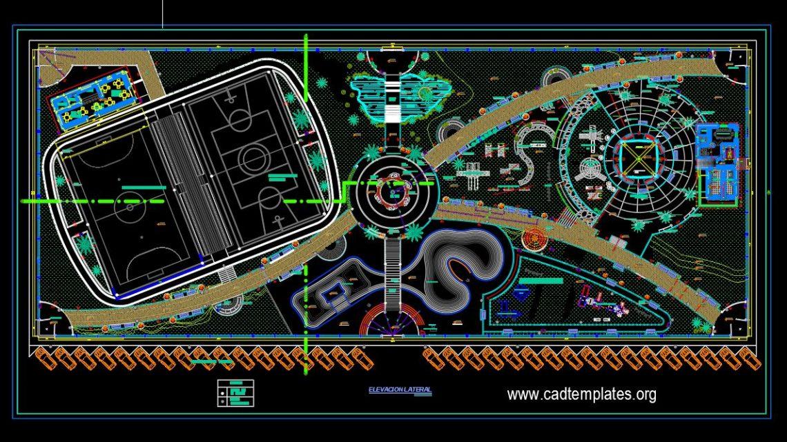 Recreational Park Design CAD Template DWG