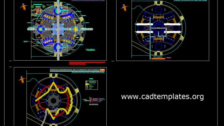 Recreational Park Master Plan CAD Template DWG