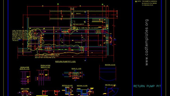 Return Pump Pit Details CAD Template DWG