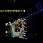 Roadside Planting Landscape Layout Plan Autocad Template DWG