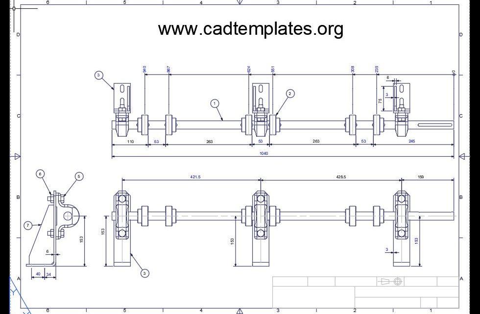 Roller Drive Details CAD Template DWG