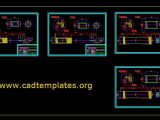 Roller Machine Stand Sections Details CAD Template DWG