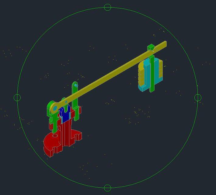Safety Valve-Lever 3D Model CAD Template DWG