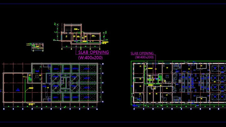 Sewage Treatment Plant Layout Plan CAD Template DWG