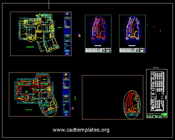 Shopping Mall Design Project CAD Template DWG