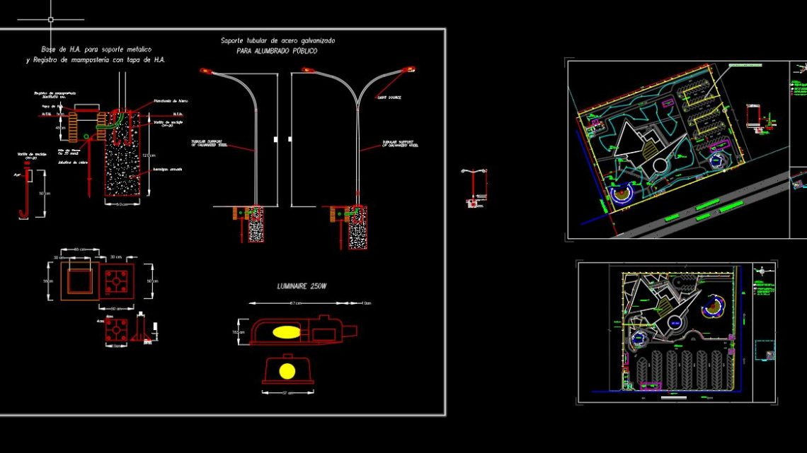 Site Lighting Layout Plan Autocad Template DWG