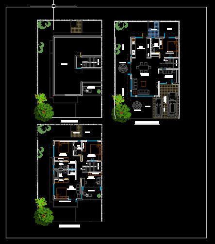 Small Villa Ground Floor Plan Cad Template Dwg Cad Templates