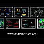 Stadium Layout Plans and Sections Details Autocad Template DWG