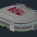 Stadium Project Design 3D Model Autocad Template DWG