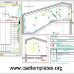 Staircase Electric Details CAD Template DWG