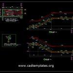 Staircase Reinforcement Concrete Details CAD Template DWG
