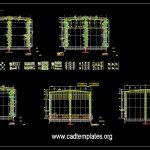 Steel Beam Endframe Details CAD Template DWG