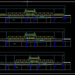 Steel Bridge Elevation and Sections CAD Template DWG