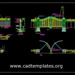 Steel Gate Plan Elevation and Sections Details CAD Template DWG