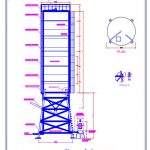 Steel Silo Plan and Elevation Details CAD Template DWG
