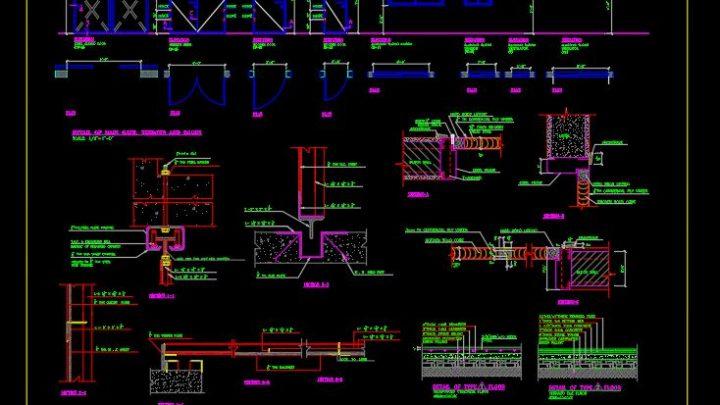 Steel Sliding Door Details CAD Template DWG