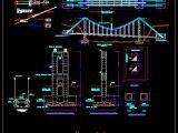 Suspension Bridge Construction Details CAD Templates DWG