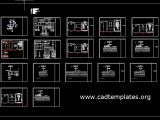 TV Station Shop Drawing Details Autocad Template DWG