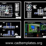 Tennis Billard Center Plans and Sections Details Autocad Template DWG